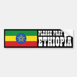 Ruegue para Etiopía Pegatina Para Auto