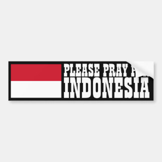 Ruegue para Indonesia Etiqueta De Parachoque
