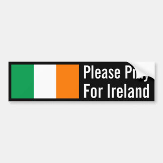 Ruegue para Irlanda Etiqueta De Parachoque