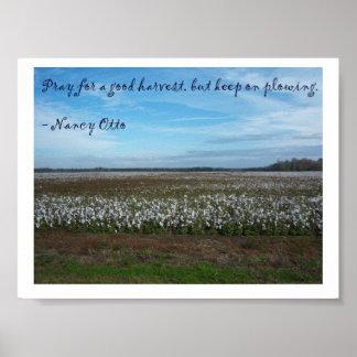 Ruegue para la buena cosecha. .by Nancy Ottis Póster