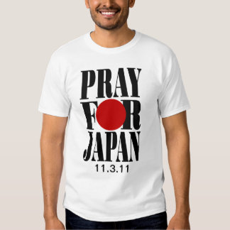Ruegue para la camiseta de Japón Poleras