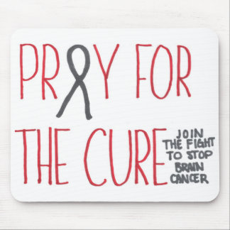 Ruegue para la conciencia Mousepad del cáncer de c