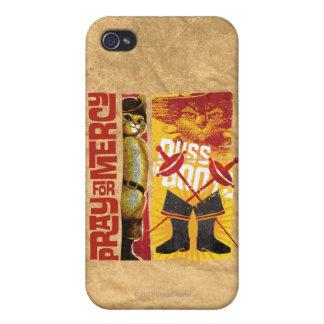 Ruegue para la misericordia (roja) iPhone 4/4S funda