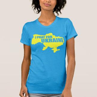Ruegue para la parte alta T de las mujeres de Camisetas