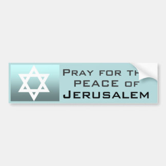 Ruegue para la paz de Jerusalén Pegatina Para Auto