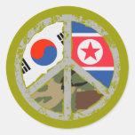 Ruegue para la paz en Corea Etiqueta Redonda