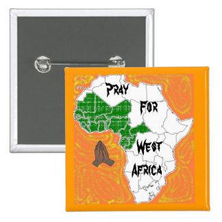 Ruegue para las Áfricas occidentales Pin Cuadrado