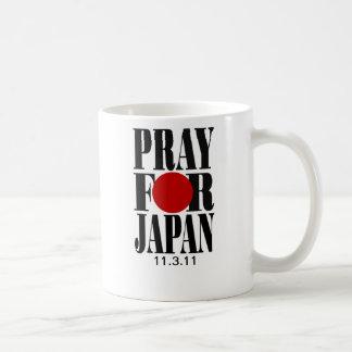 Ruegue para las tazas de Japón