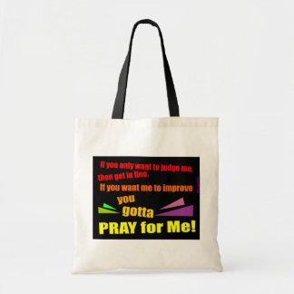 Ruegue para mí el regalo cristiano bolsa tela barata