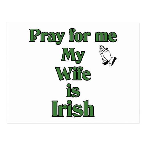 Ruegue para mí que mi esposa es irlandesa postal