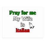 Ruegue para mí que mi esposa es italiana tarjeta postal