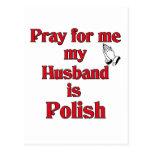 Ruegue para mí que mi marido es polaco tarjeta postal
