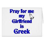 Ruegue para mí que mi novia es griega felicitación