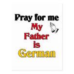 Ruegue para mí que mi padre es alemán postal