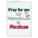 Ruegue para mí que mi suegro es mexicano tarjeton