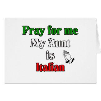 Ruegue para mí que mi tía es italiana tarjeta de felicitación