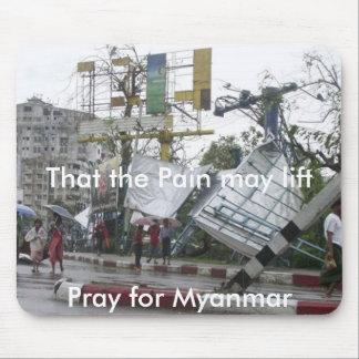 Ruegue para Myanmar Tapete De Ratón