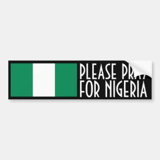 Ruegue para Nigeria Pegatina Para Auto