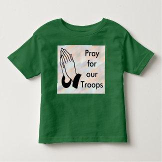 Ruegue para nuestra camisa del niño de las tropas