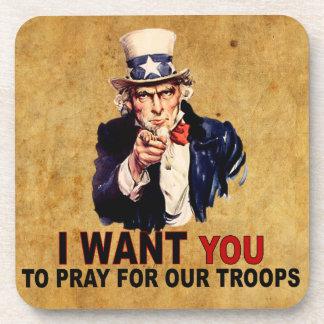 Ruegue para nuestras tropas posavasos