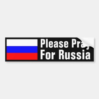 Ruegue para Rusia Pegatina Para Auto