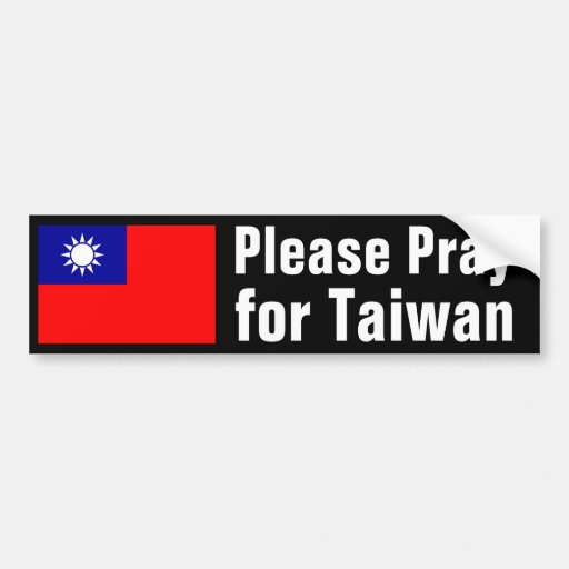 Ruegue para Taiwán Pegatina Para Auto