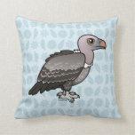 Rueppell's Vulture Throw Pillows
