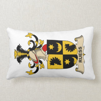 Ruess Family Crest Lumbar Pillow
