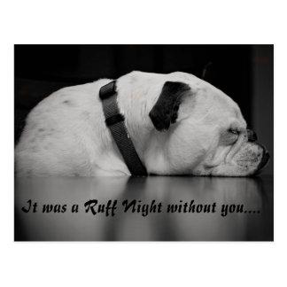 Ruff Night postcard