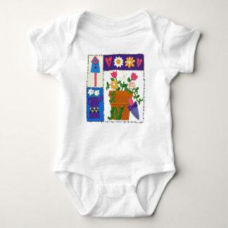 Ruff Patch Garden Design Baby Bodysuit