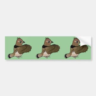Ruffed Grouse (drumming) Bumper Sticker