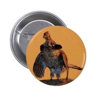 Ruffed Grouse (Pennsylvania) Button
