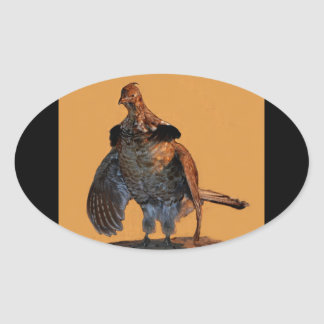 Ruffed Grouse (Pennsylvania) Oval Sticker