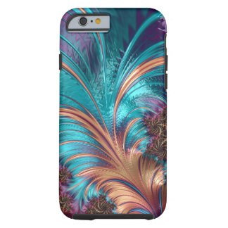 Ruffle A Few Feathers Fractal Tough iPhone Case