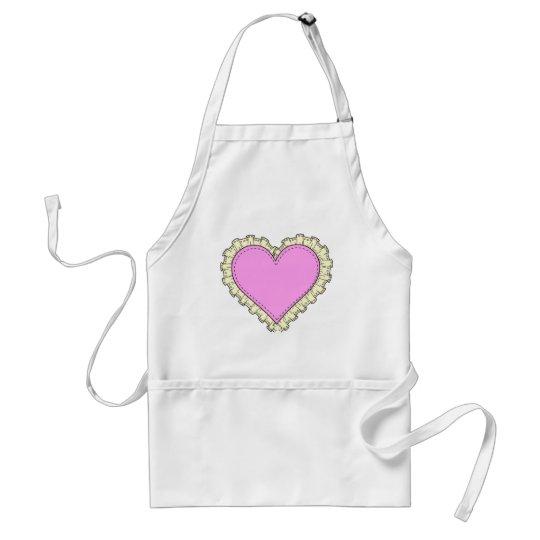 ruffle heart adult apron