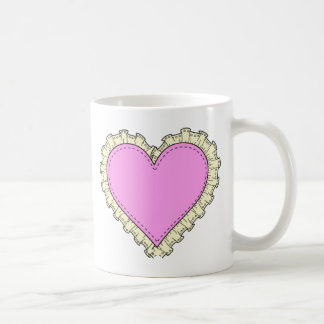 ruffle heart coffee mug
