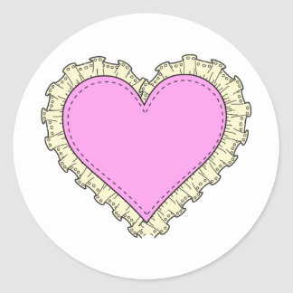 ruffle heart sticker