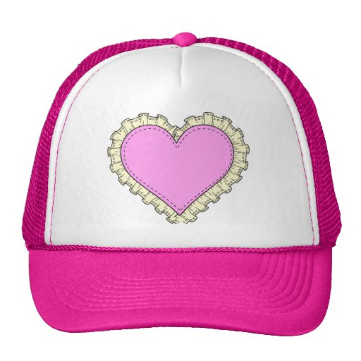 ruffle heart trucker hats