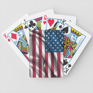 Ruffled America Flag Bicycle Playing Cards