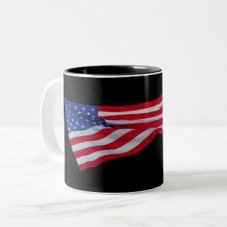 Ruffled American Flag Mug