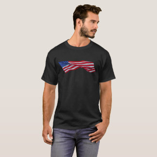 Ruffled American Flag Shirt