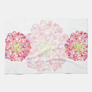 Ruffled Dahlia Floral Kitchen Towels