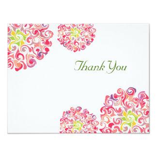 Ruffled Dahlia Floral Thank You Card