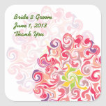 Ruffled Dahlia Floral Thank You Stickers