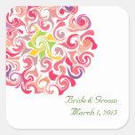 Ruffled Dahlia Floral Wedding Stickers