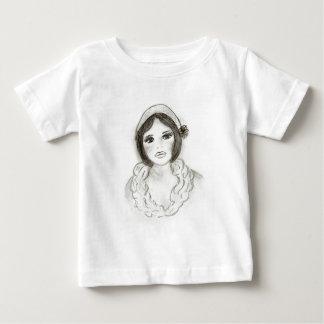 Ruffled Flapper Girl Baby T-Shirt