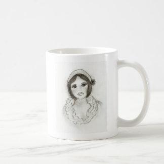Ruffled Flapper Girl Coffee Mug