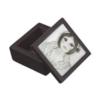 Ruffled Flapper Girl Jewelry Box