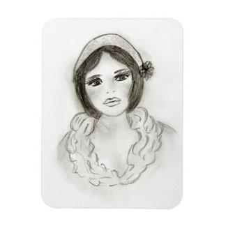 Ruffled Flapper Girl Magnet