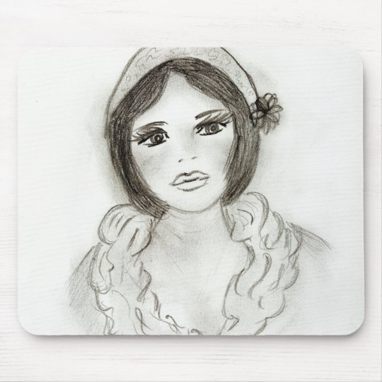 Ruffled Flapper Girl Mouse Pad